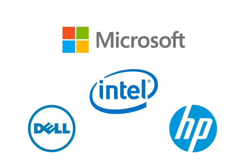 Computer Hardware - HP, Dell, Micrsoft, Intel